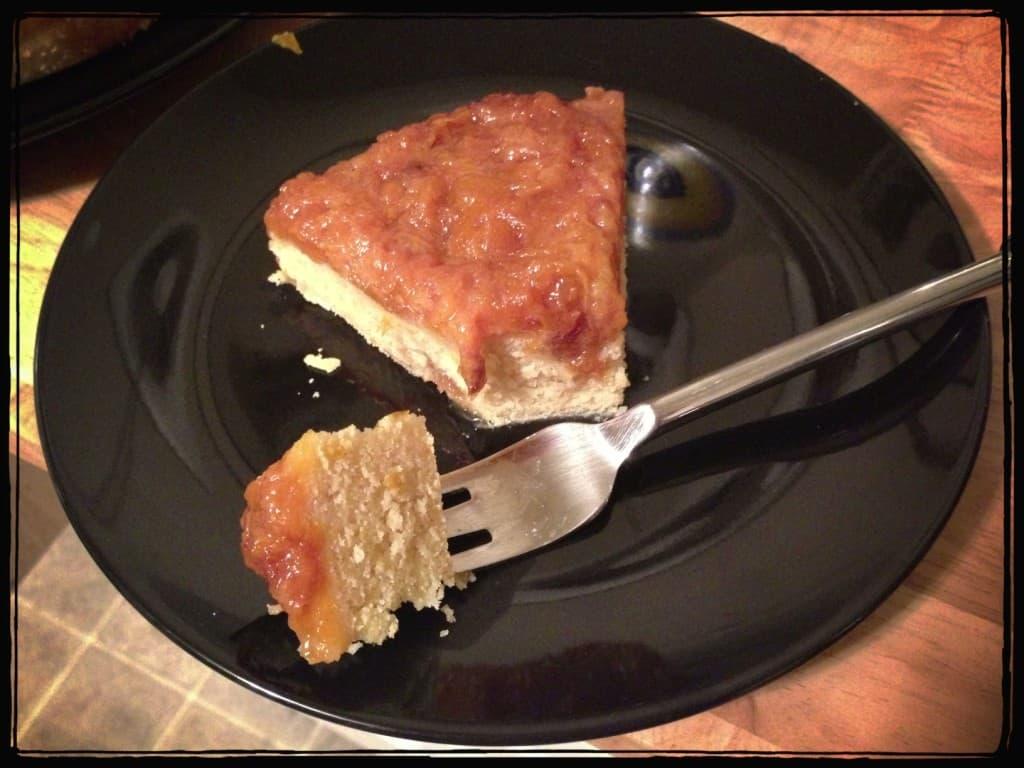 Gluten-free Plum Basil Upside Down Cake
