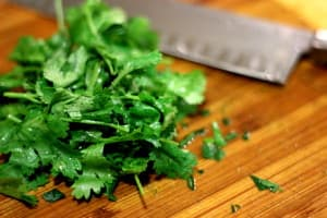cilantro-on-cutting-board